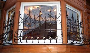 Кованые французские решетки на окна