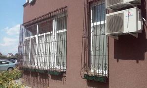 Решетка на окна и балкон с цветошником